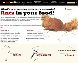BASF Introduces Ant Institute Web Site for Homeowners