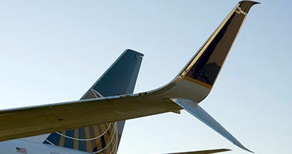 United Airlines 1st to Install Split Scimitar Winglets