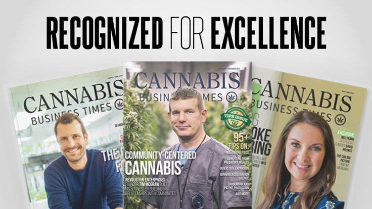 Cannabis Business Times Wins National and Regional Azbee Awards