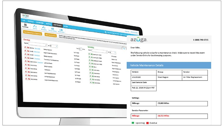 Azuga Deals Functionality Added to Maintenance Module