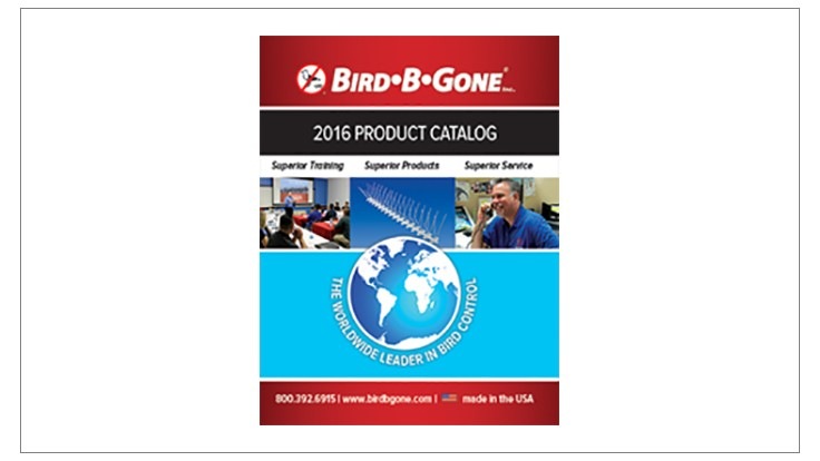 Bird B Gone Releases New 2016 Bird Control Product Catalog