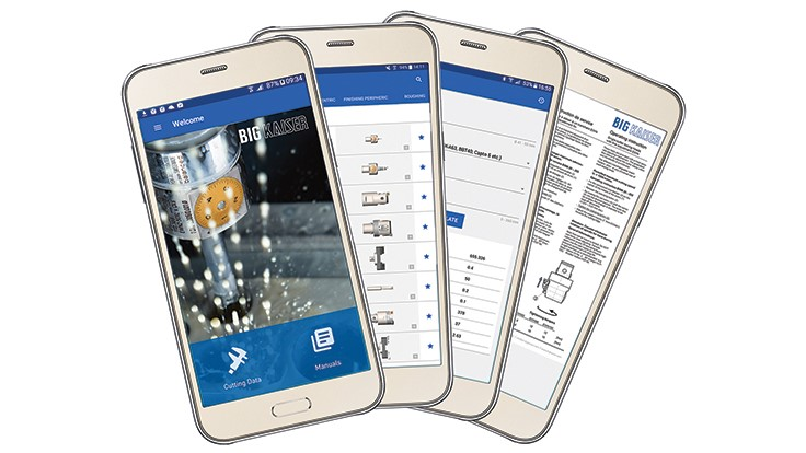 Big Kaiser cutting data app for smartphones, tablets