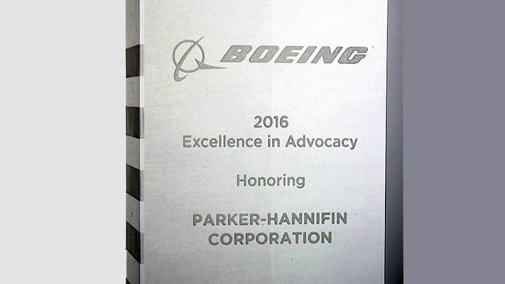 Parker Hannifin Chomerics division honored with Boeing award