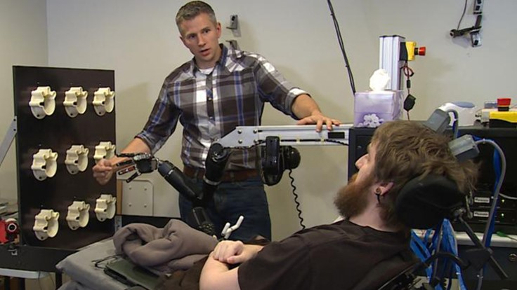 Paralyzed man regains realistic touch in the hand from brain chip