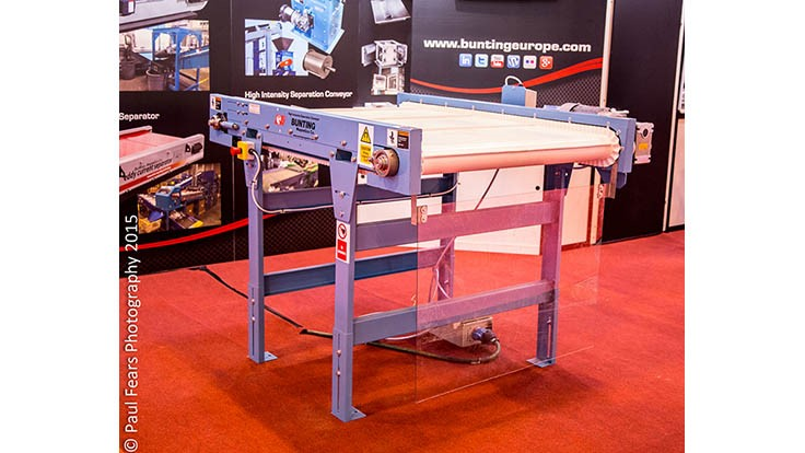 Bunting to debut stainless steel separator at Recycling Technik event