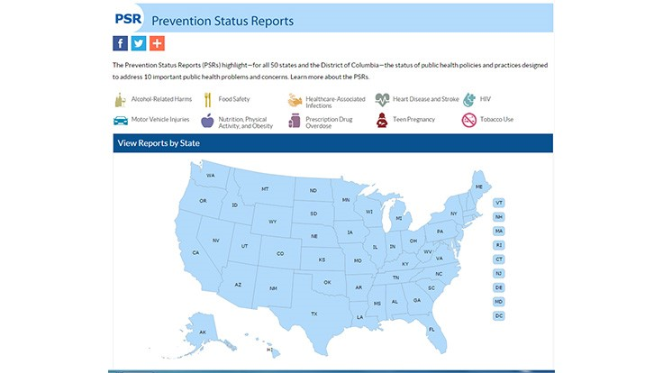 Cdc Releases New Package For Prevention >> Cdc Releases State By State Prevention Status Reports Quality