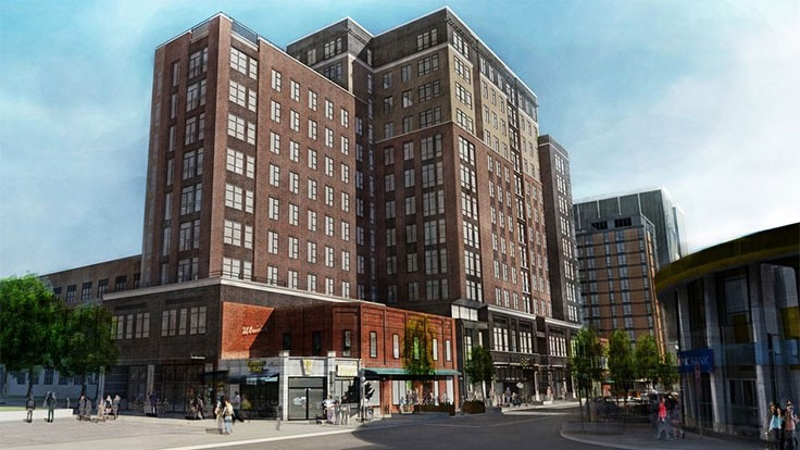 Demolition to make way for University of Michigan student high-rise apartments