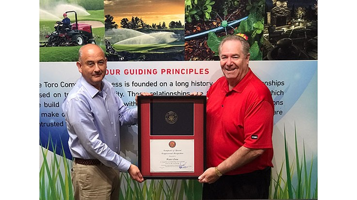 Toro sponsored radio show receives congressional certificate