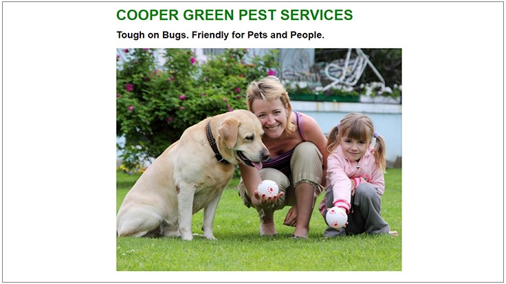 Cooper Pest Solutions Now Offering Green Services
