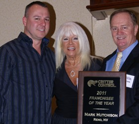 Critter Control Awards Top Franchisee