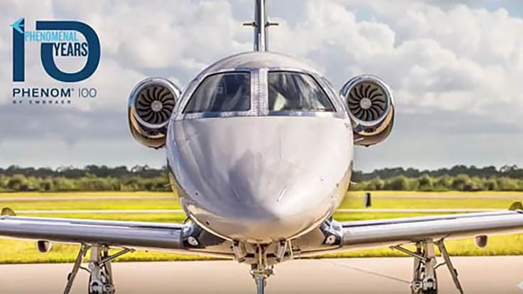 Embraer Phenom 100 business jet celebrates 10th anniversary