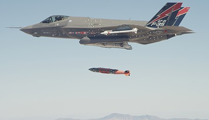 F-35A Completes First In-Flight Weapons Release