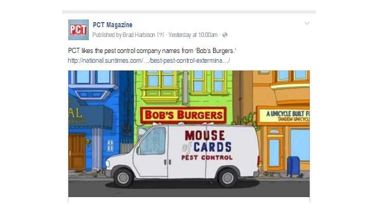 Facebook Fun: Pest Control Companies on 'Bob's Burgers'