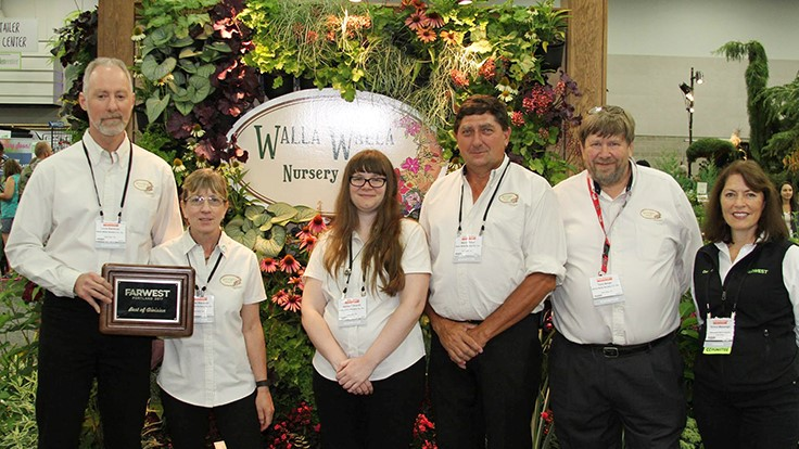Walla Walla Nursery wins Best in Show Booth award at Farwest 2017