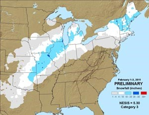 Us Cooler Drier Than Normal In Jan Snow Magazine - Map-of-us-snowfall