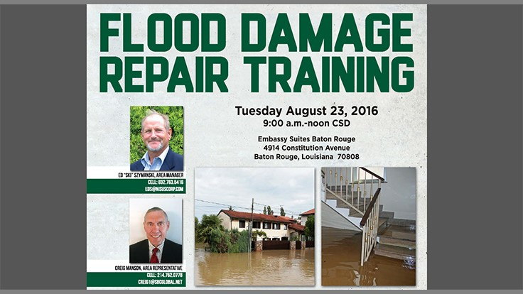 Nisus Holds Flood Damage Repair Training
