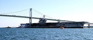 Aircraft carrier takes final journey