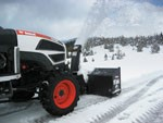 Front-mounted snowblowers