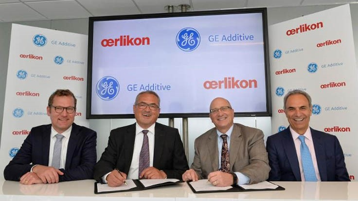 GE Additive, Oerlikon to collaborate on additive manufacturing