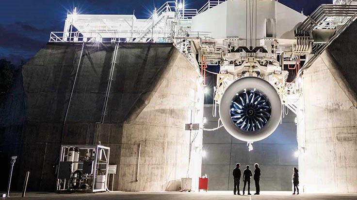 First full GE9X engine completes initial ground testing