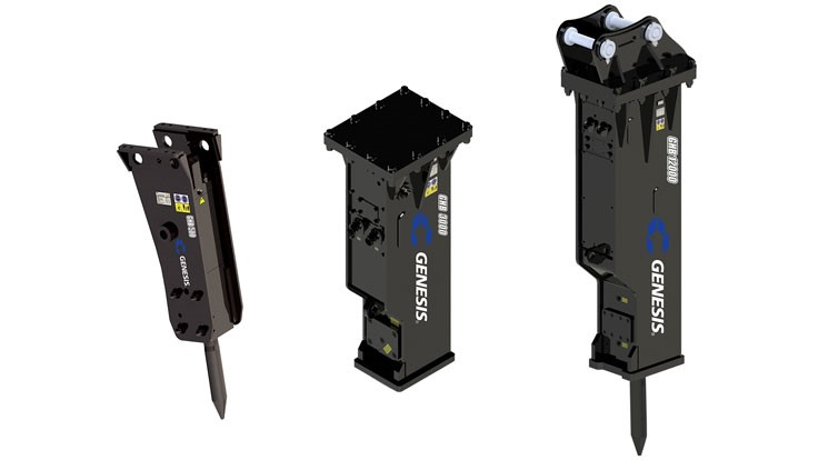 Genesis announces new line of hydraulic breakers