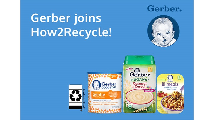 Gerber joins How2Recycle Label program