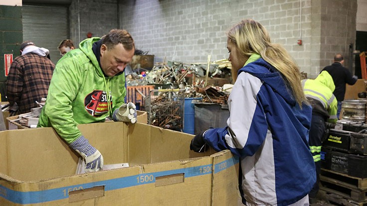 Gershow Recycling donates scrap metal for robotics competition