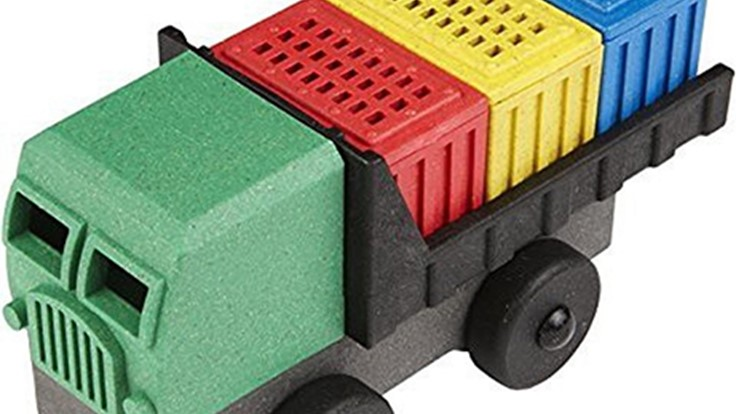 Toy maker adopts recycled-content composite