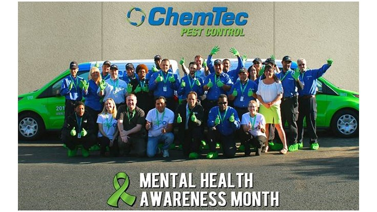 ChemTec Pest Control Goes Green for Mental Health Awareness Month