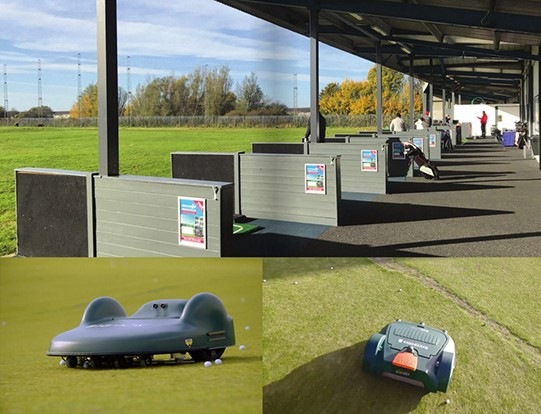 Driving range resorts to robots for turf maintenance, ball collection