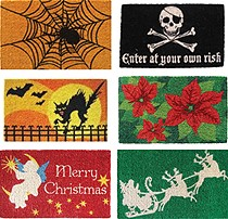 Seasonal doormats