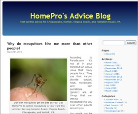 HomePro Pest Control's Blog Receives Award