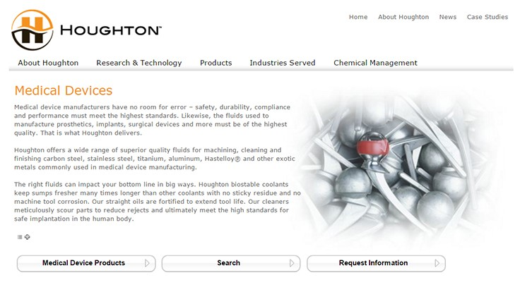 Houghton providing solutions to manufacturers