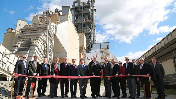 Holcim unveils remodeled cement plant