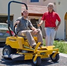 Excel donates electric mower to Greensburg