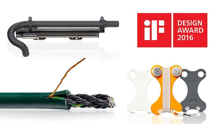 Triple iF Design Awards for igus products