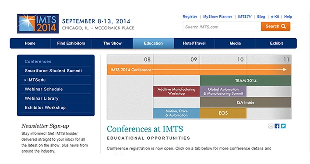 IMTS 2014 conference speakers set