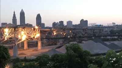Cleveland's Innerbelt Bridge comes down with a bang