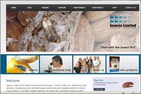 New Website for Insects Limited