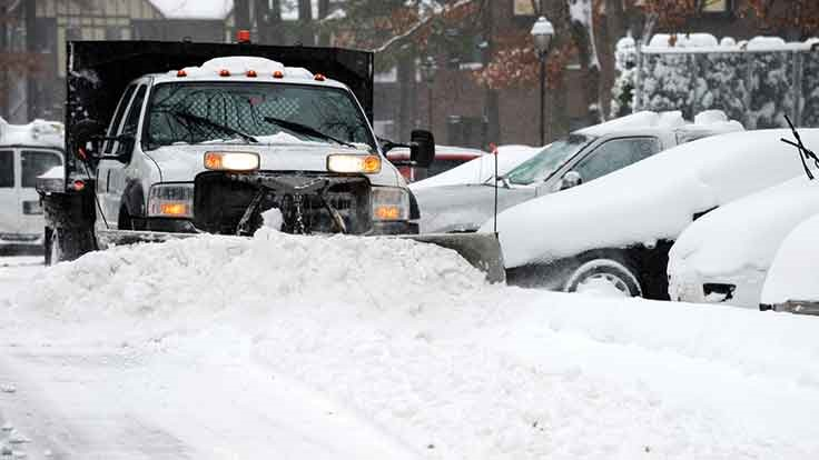 Blizzard disrupts waste collection