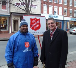 PermaTreat Rings the Salvation Army Bell in Fredericksburg