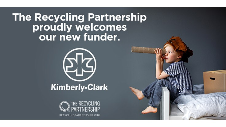 The Recycling Partnership adds Kimberly-Clark as a sponsor