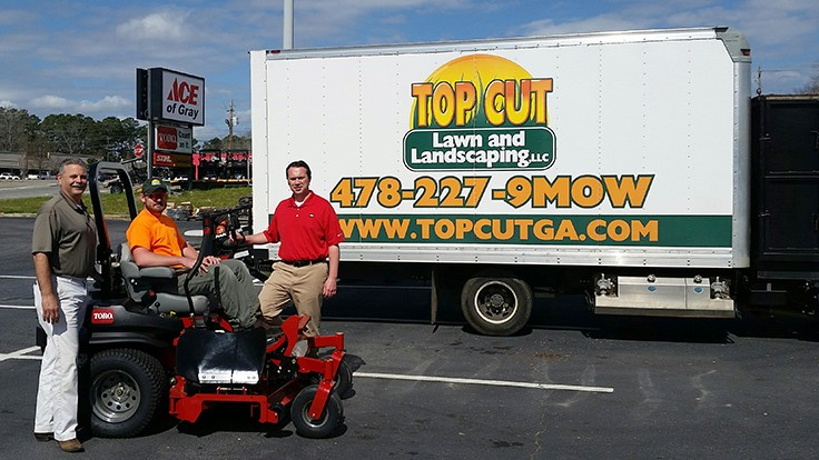 Prize winner receives new mower