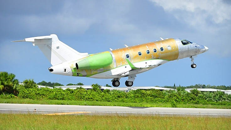 Embraer flies first Legacy 450 assembled in Melbourne, Florida