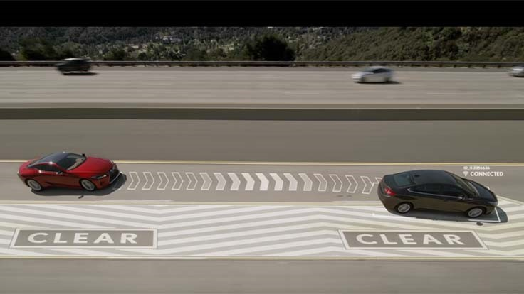 Lexus technology to take over cars, force them out of fast lanes (Video)