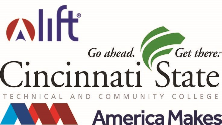 Lift, America Makes developing 3D printing program with Cincinnati State Technical and Community College