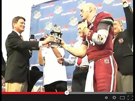 Video: Tony Massey Presents Capital One Bowl MVP Award