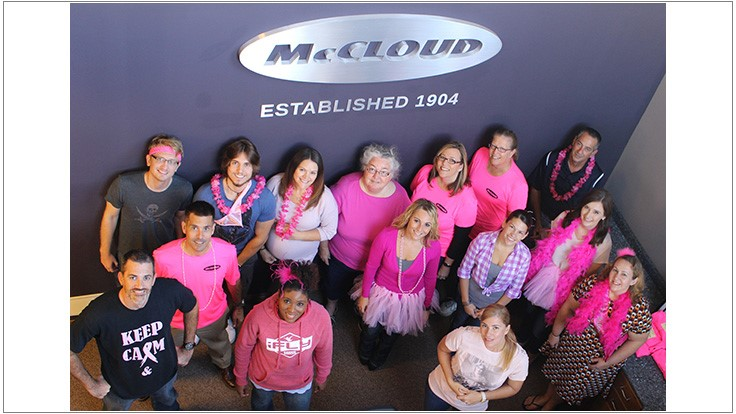 McCloud Services Wears Pink Gloves for Breast Cancer Awareness
