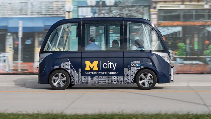 Autonomous shuttles to begin University of Michigan operations
