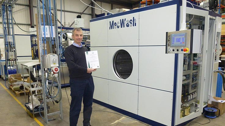 MecWash's ISO accreditation